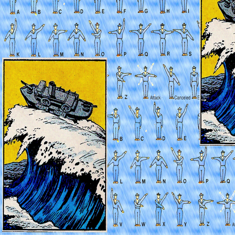 Catching the Big Wave fabric by nalo_hopkinson on Spoonflower - custom fabric
