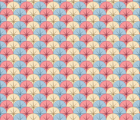 Compass Scales fabric by jumping_monkeys on Spoonflower - custom fabric