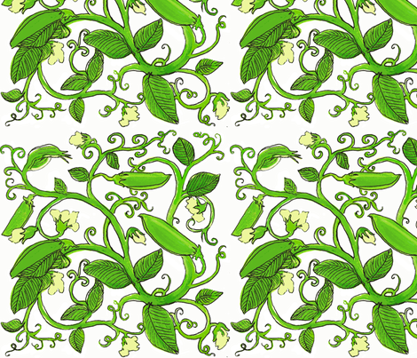 sweetpeas-ed fabric by mjw23 on Spoonflower - custom fabric