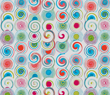 light grey twirl fabric by jorz on Spoonflower - custom fabric