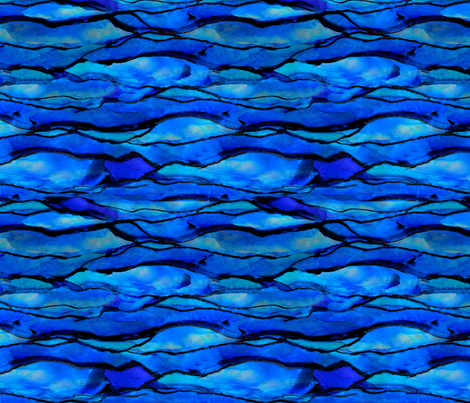Ocean Ripple fabric by poetryqn on Spoonflower - custom fabric