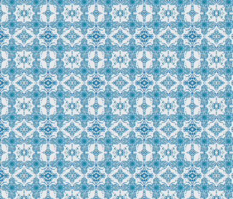 irish motif blue fabric by yarrow4 on Spoonflower - custom fabric