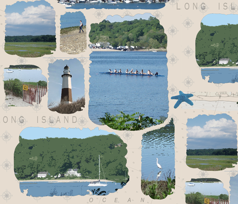 Welcome to Long Island fabric by poetryqn on Spoonflower - custom fabric