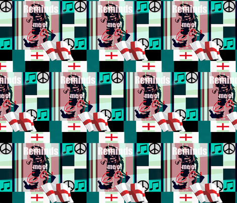 "british Cheater Quilt"" Reminds me of 69'-ed-ed fabric by paragonstudios on Spoonflower - custom fabric"