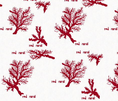 Red Coral fabric by paragonstudios on Spoonflower - custom fabric