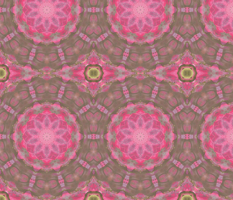 Gayle's Garden Kaleidescope #3 fabric by audarrt on Spoonflower - custom fabric