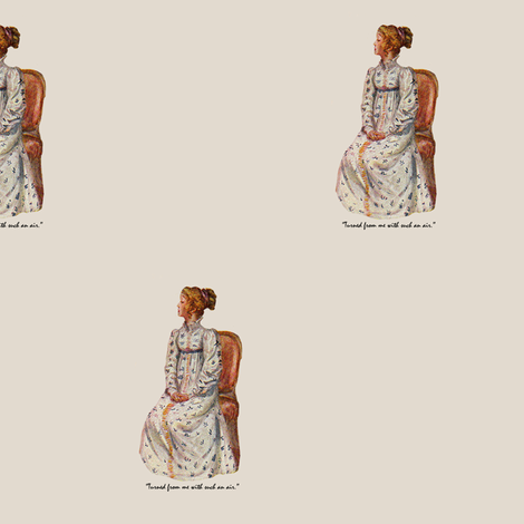 Jane Austen Large  fabric by karenharveycox on Spoonflower - custom fabric