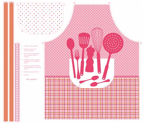 Tablier de cuisine fabric by milto42 on Spoonflower - custom fabric