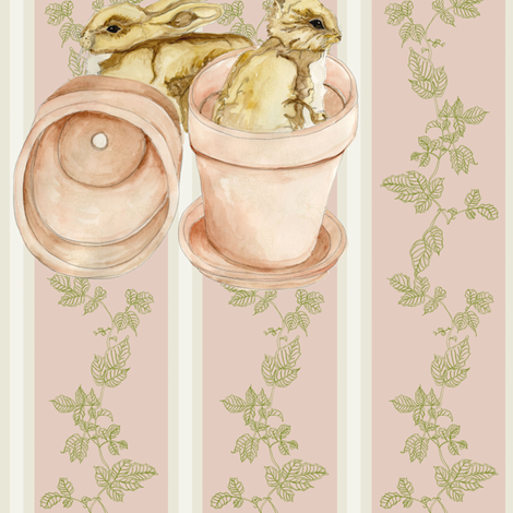 Cheeky Rabbits fabric by nicola_hanrahan on Spoonflower - custom fabric