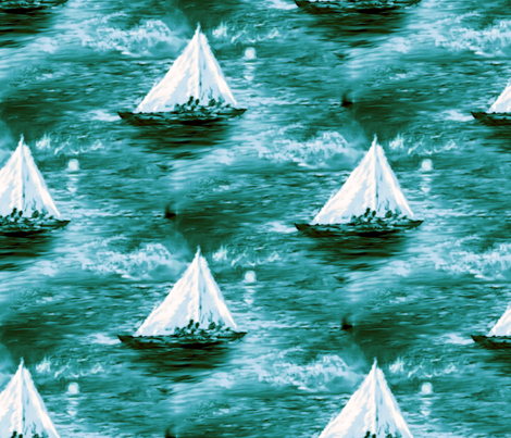 nautical4 fabric by rokinronda on Spoonflower - custom fabric