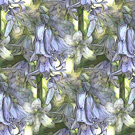Blue bell  fabric by vib on Spoonflower - custom fabric