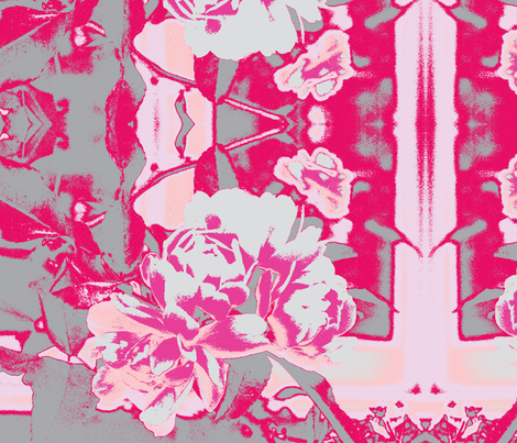 grey roses fabric by arteija on Spoonflower - custom fabric