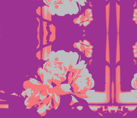 grey roses@2 fabric by arteija on Spoonflower - custom fabric