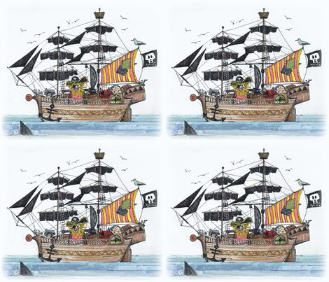 yo pirate yo fabric by scrummy on Spoonflower - custom fabric