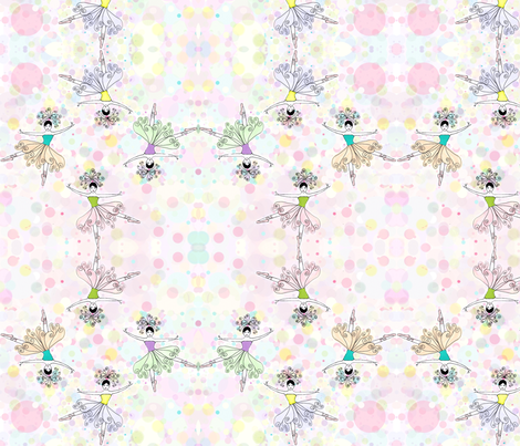 ballet dancers kaleidoscope  fabric by dragonflyfae on Spoonflower - custom fabric