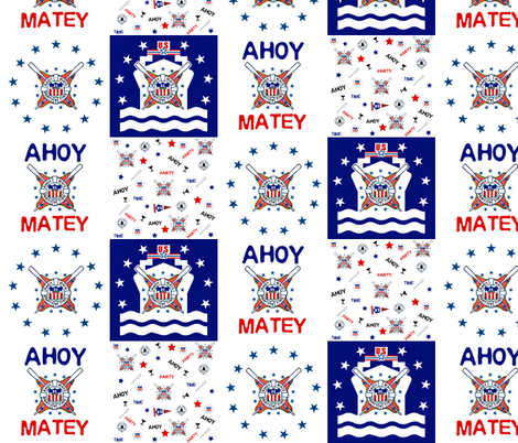 AHOY MATEY SHIP fabric by paragonstudios on Spoonflower - custom fabric