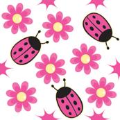 Nice Ladybug and Pink Daisy