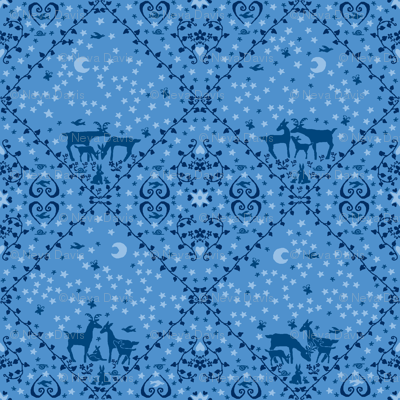 Blue deer large design
