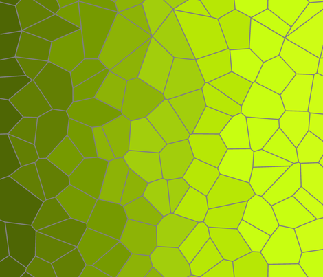 Gradient Voronoi Green fabric by candyjoyce on Spoonflower - custom fabric