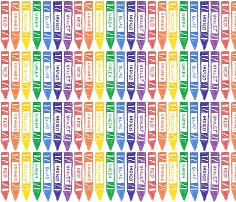 Rainbow Crayons fabric by tamarack on Spoonflower - custom fabric