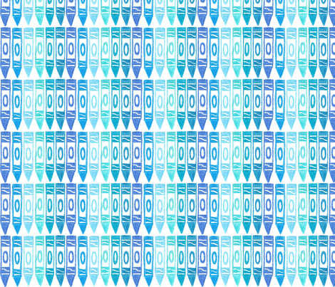 Blue Crayons fabric by tamarack on Spoonflower - custom fabric