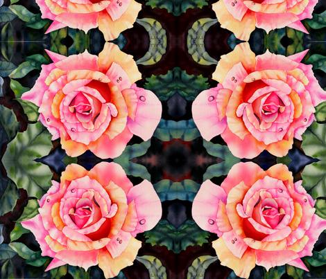 Sunkissed Rose II fabric by stramer on Spoonflower - custom fabric
