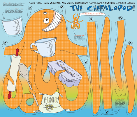 The Chefalopod: A Culinary Companion fabric by sammyk on Spoonflower - custom fabric