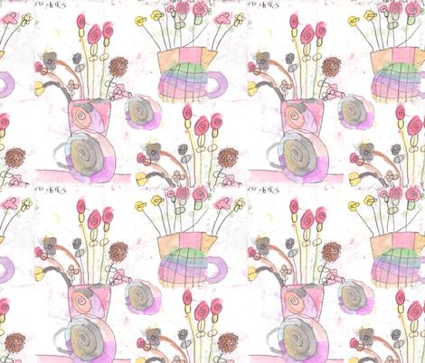 Nyrobi's Flower Painting fabric by kkitwana on Spoonflower - custom fabric