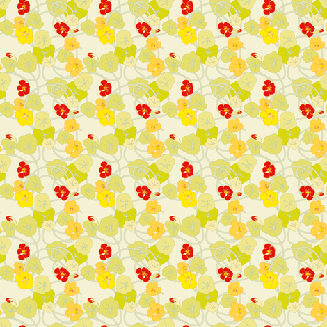 Nasturtiums Petite fabric by anntuck on Spoonflower - custom fabric