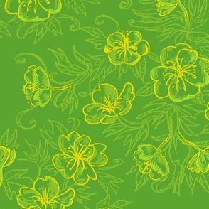 Caravan Floral - Lime