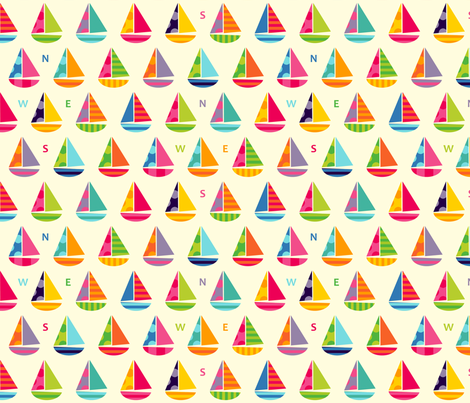 Little Boats fabric by spellstone on Spoonflower - custom fabric