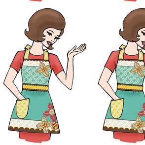 Flora Retro Apron Girl