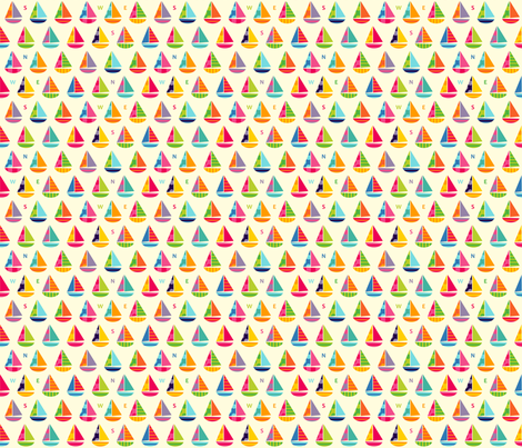Tiny Boats fabric by spellstone on Spoonflower - custom fabric