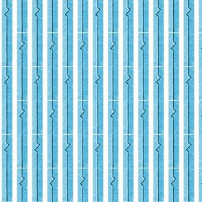 Heartbeat Stripes Blue