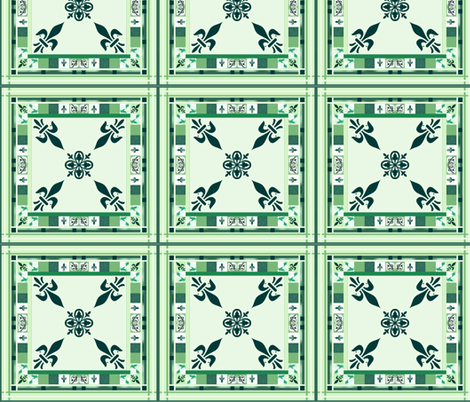 Grieving Mothers - fleur-de-lis  Q. Block fabric by paragonstudios on Spoonflower - custom fabric