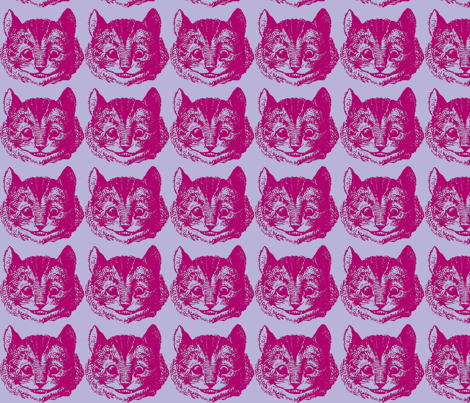 Cheshire pink and purple fabric by hoperetter on Spoonflower - custom fabric