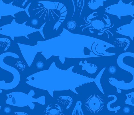 sealifesf fabric by jevaart on Spoonflower - custom fabric