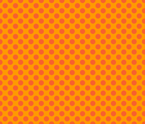 Orange Spot fabric by spellstone on Spoonflower - custom fabric