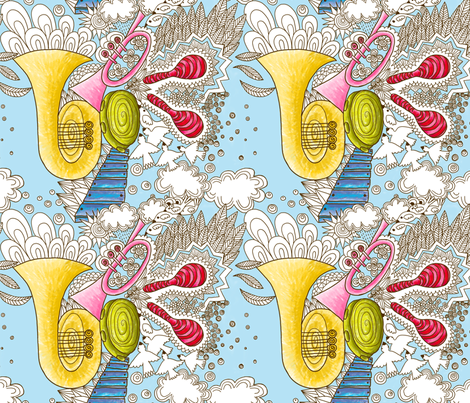 musique celeste M fabric by nadja_petremand on Spoonflower - custom fabric