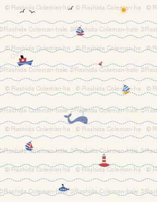 Nautical Fun - Off White
