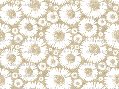 Retro Summer Daisy - Wheat