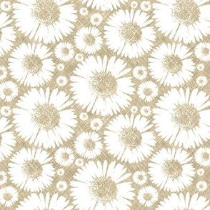 Retro Summer Daisy - Wheat