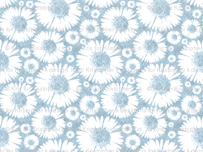 Retro Summer Daisy - Sky