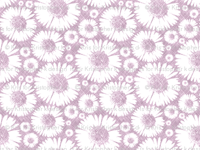 Retro Summer Daisy - Plum