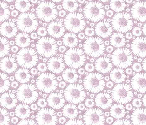 Retro Summer Daisy - Plum fabric by kristopherk on Spoonflower - custom fabric