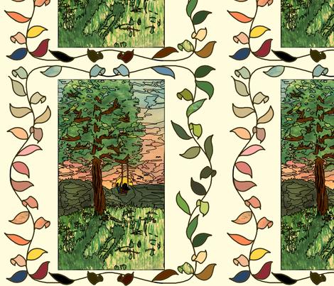 Sunset Swing Painting fabric by juliamonroe on Spoonflower - custom fabric