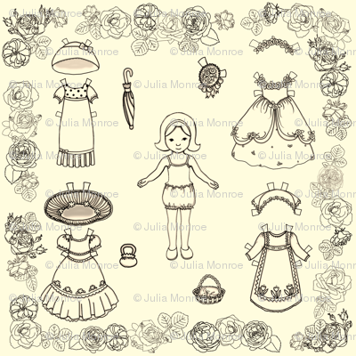 Paper Doll and Roses