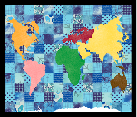 Quilted World fabric by evenspor on Spoonflower - custom fabric