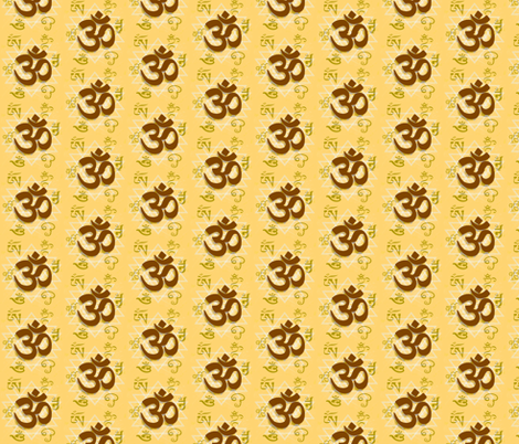 Many Faces of Om fabric by cricketnoel on Spoonflower - custom fabric