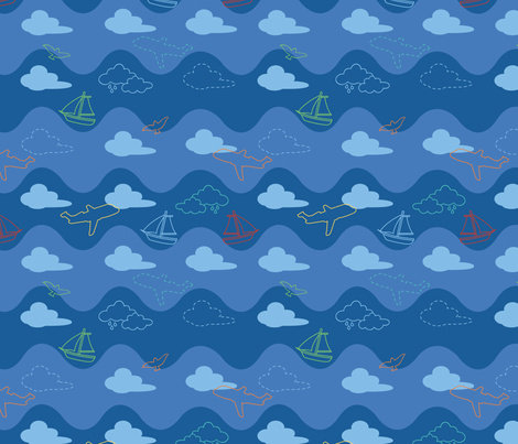 Bllue sky fabric by mariacabo on Spoonflower - custom fabric